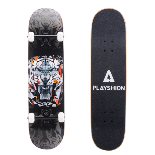 Playshion 31 Inch Trick Skateboard for Kids Tiger