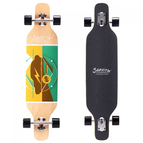Sanview 39-inch long board skateboard cruiser